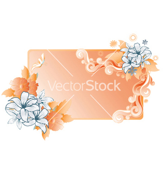 Free abstract floral frame vector - Free vector #246999
