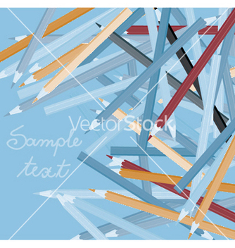 Free abstract with pencils vector - бесплатный vector #247149