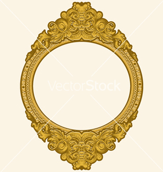 Free engraved gold floral frame vector - Free vector #247169
