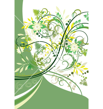 Free abstract floral background element for design vector - Free vector #247179