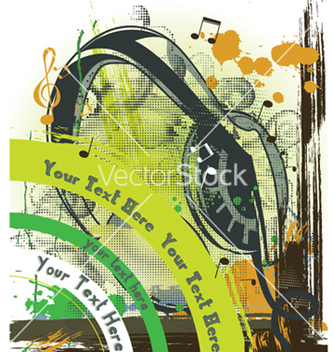 Free concert poster with headphones vector - Free vector #247669