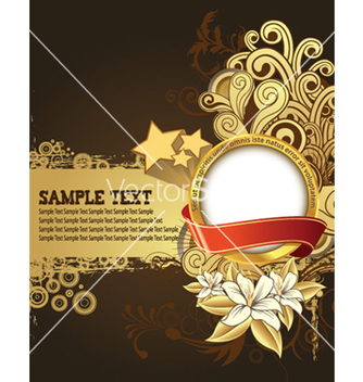 Free label with floral background vector - Kostenloses vector #248019