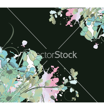 Free grunge floral background vector - vector gratuit #248249