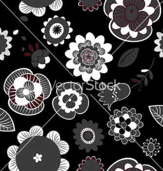 Free abstract seamless floral background vector - Free vector #248259