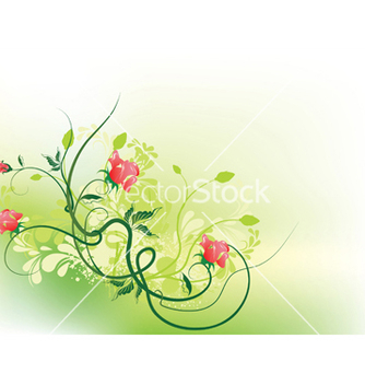 Free grunge floral background vector - vector gratuit #248289