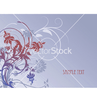 Free vintage background with floral vector - vector #248339 gratis
