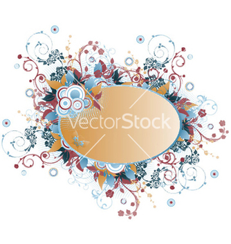 Free retro floral frame vector - Free vector #248399