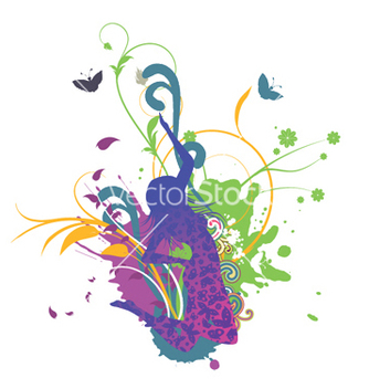 Free girl with floral vector - Kostenloses vector #248539