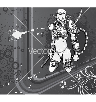 Free warrior girl vector - Kostenloses vector #248699