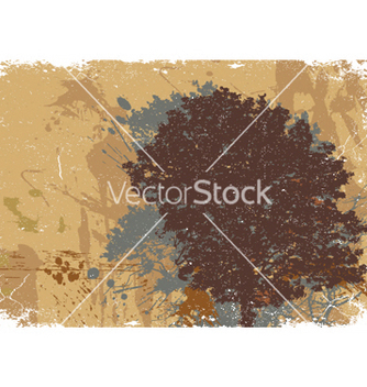 Free vintage background with tree vector - бесплатный vector #248749