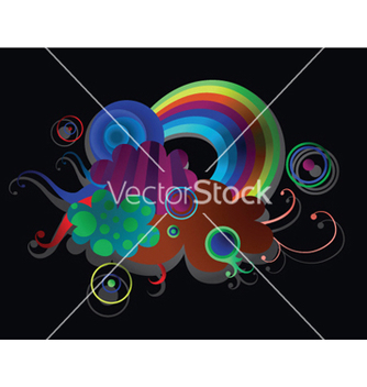 Free popart background with rainbow vector - Kostenloses vector #248819
