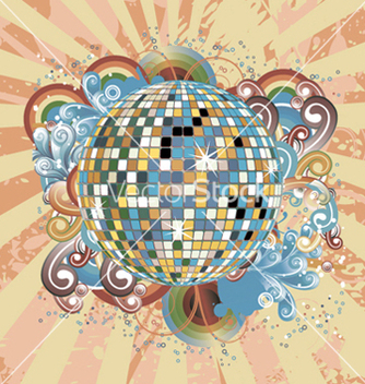 Free discoball with circles vector - vector #248939 gratis