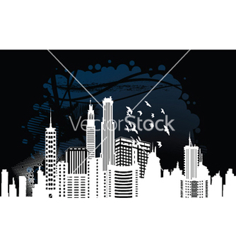 Free city with grunge vector - Kostenloses vector #249569
