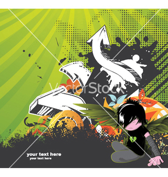 Free emo kid with 3d arrows vector - Free vector #249599