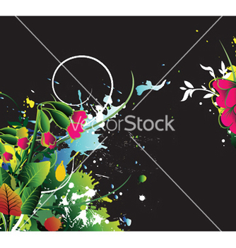 Free watercolor floral background with splash vector - бесплатный vector #249779