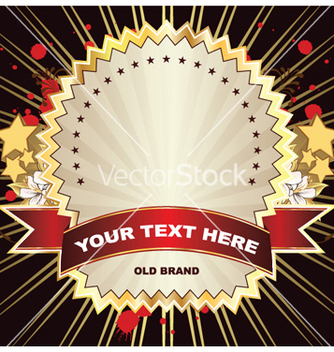 Free label with grunge vector - vector gratuit #249849