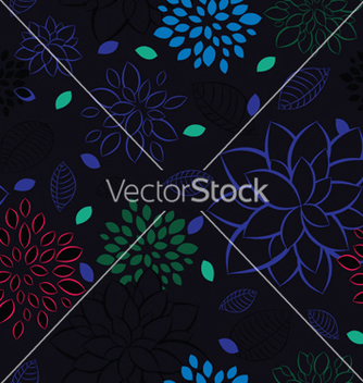 Free abstract seamless floral background vector - Free vector #249939