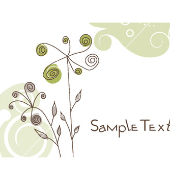 Free doodles floral background vector - Free vector #249969