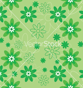 Free abstract seamless floral background vector - Kostenloses vector #250239