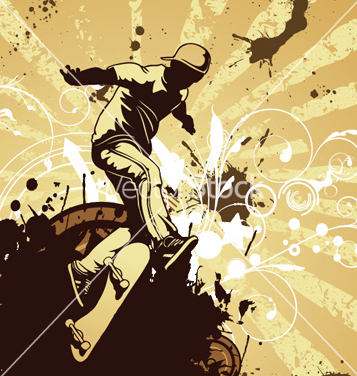 Skater Free com vector grunge - Free vector #250339