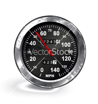 Free old rusty speedo meter vector - Free vector #250409