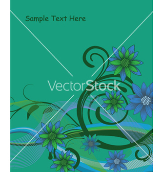 Free floral background with waves vector - Free vector #250549