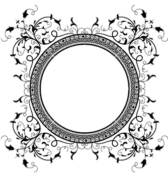 Free retro floral frame vector - Free vector #250639