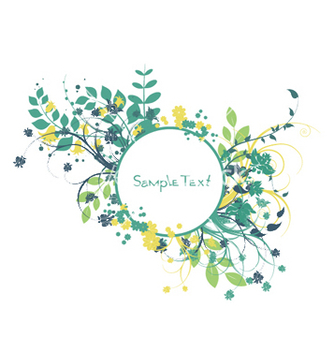 Free spring floral frame vector - Free vector #250649