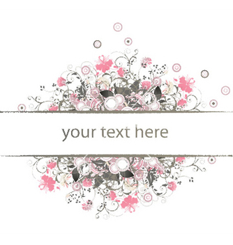 Free retro floral frame vector - Free vector #250779