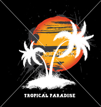 Free vintage summer background with palm trees vector - бесплатный vector #250809