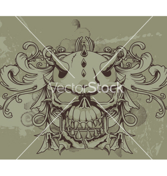 Free grunge floral and skull vector - Kostenloses vector #251139