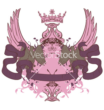 Free vintage crest with scroll vector - бесплатный vector #251199