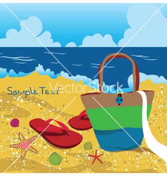 Free summer background with sea creatures vector - Free vector #251229