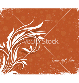 Free grunge floral background vector - бесплатный vector #251239