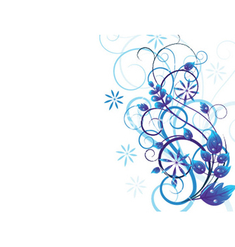 Free blue floral vector - Free vector #251249