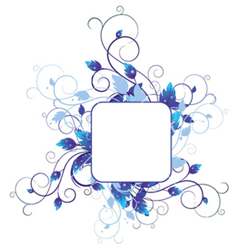 Free blue floral vector - Free vector #251619
