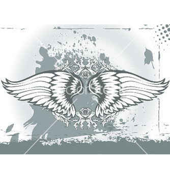 Free wings with floral vector - vector gratuit #251649