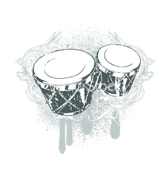 Free drums emblem vector - бесплатный vector #251859