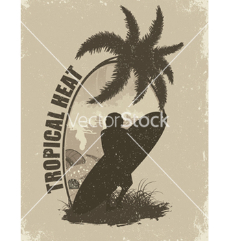 Free summer grunge background with surfer vector - Free vector #251919