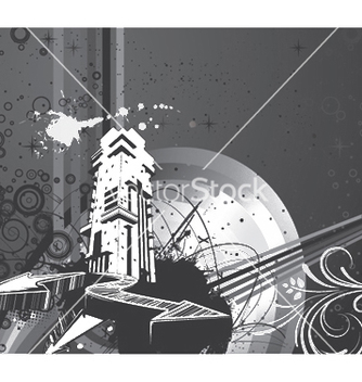 Free urban background vector - Free vector #251989