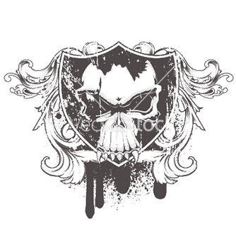 Free skull with floral vector - Kostenloses vector #252009