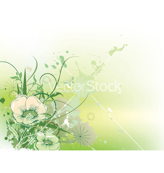 Free grunge floral background vector - бесплатный vector #252029