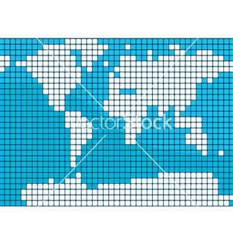 Free dotted world map vector - vector gratuit #252039