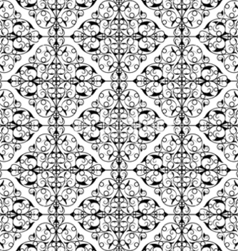 Free wrought iron seamless pattern vector - Free vector #252049
