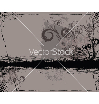 Free grunge floral background vector - vector gratuit #252259