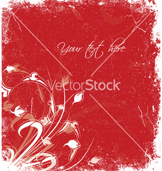 Free grunge floral vector - Free vector #252409