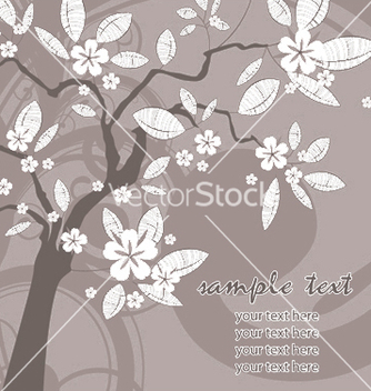 Free vintage background with tree vector - бесплатный vector #252429