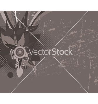 Free grunge wallpaper with floral vector - Free vector #252689