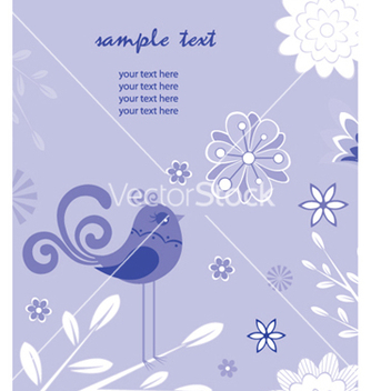 Free floral with bird vector - бесплатный vector #252709