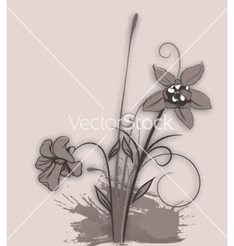 Free grunge floral background vector - vector gratuit #252749